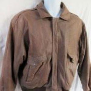 ROUNDTREE & YORKE Leather flight bomber moto jackt